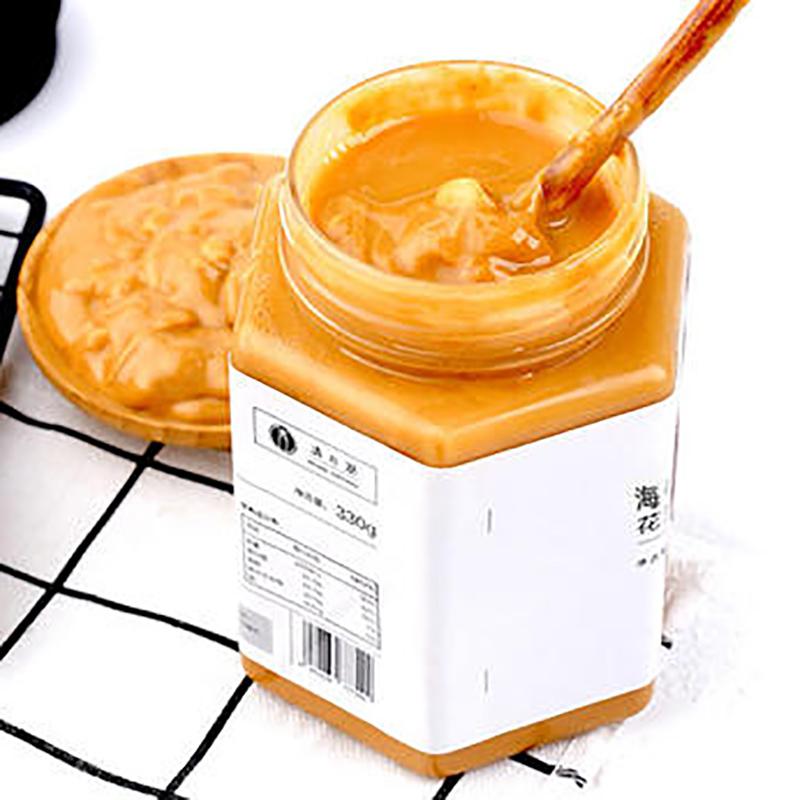 【拍下36元】现货 清心湖海盐花生酱330g 无添加早餐拌面饼干酱