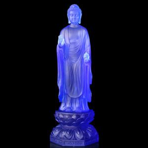 琉璃药师佛光如来佛堂居家供奉佛像摆件寺院古法脱蜡铸造佛教七宝