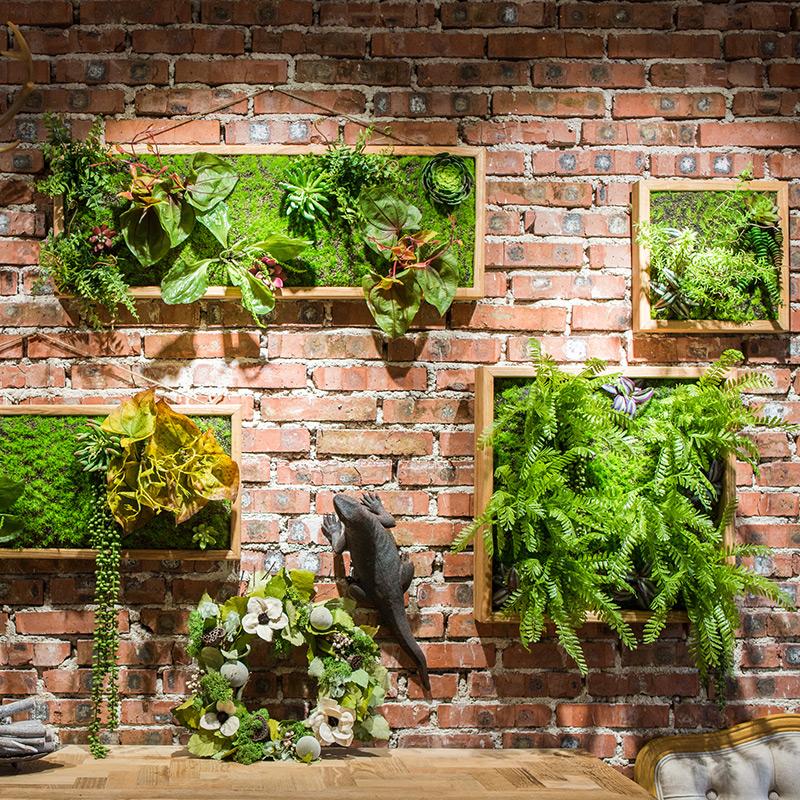 【掬涵】仿真绿植框 绿植墙多肉组合植物背景墙 装饰壁饰花墙礼物