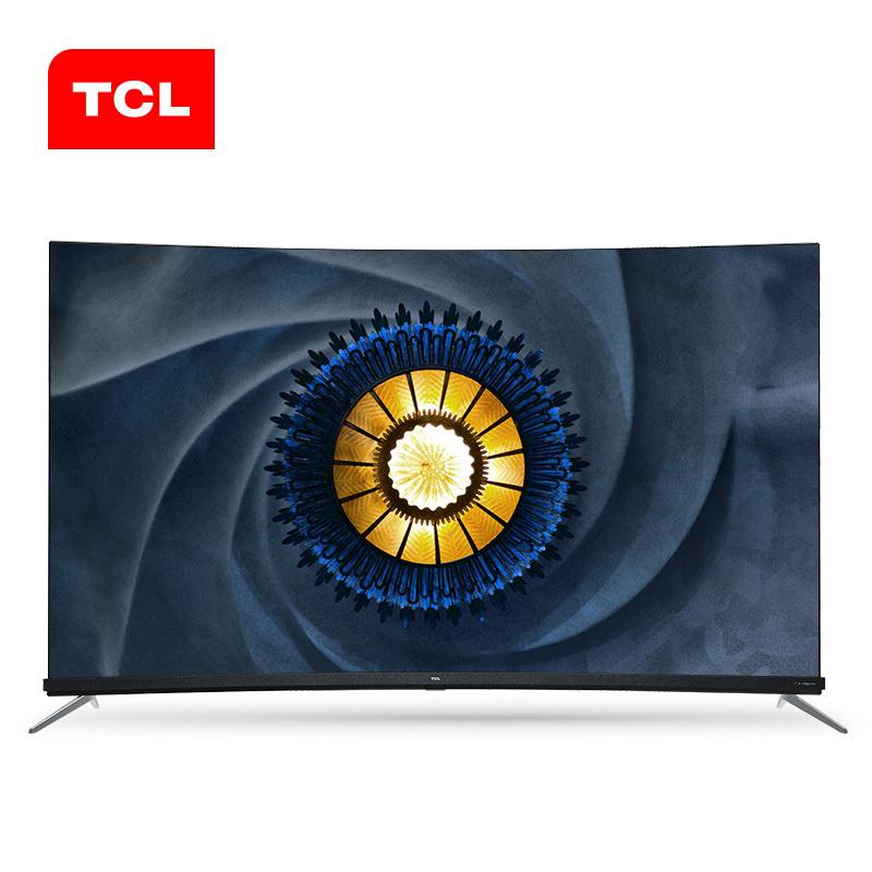 TCL 65Q7 65英寸 HDR曲面4K安卓人工智能MEMC免遥控LED液晶电视