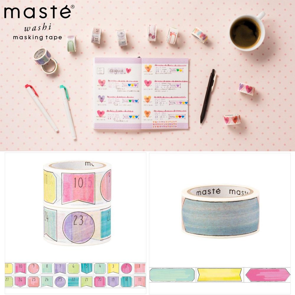 日本marks Mark's maste 日付日期标题框和纸胶带 带裁切线可书写
