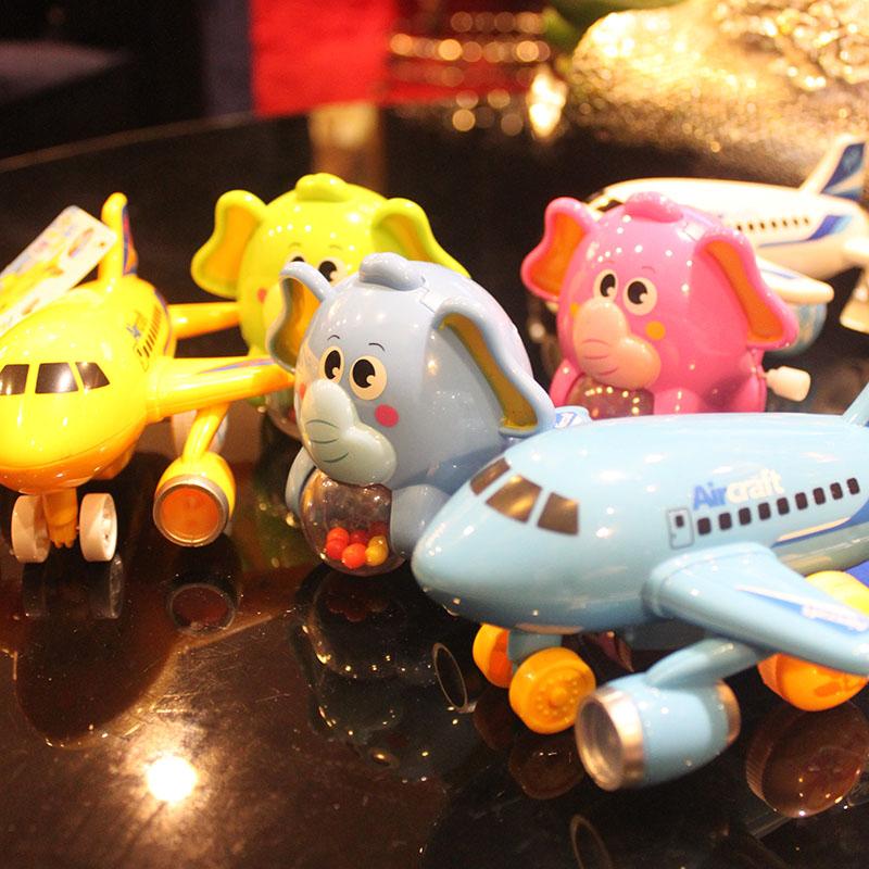 炫动声光惯性小客机灯光音乐惯性飞机儿童婴儿惯性车飞机益智模型