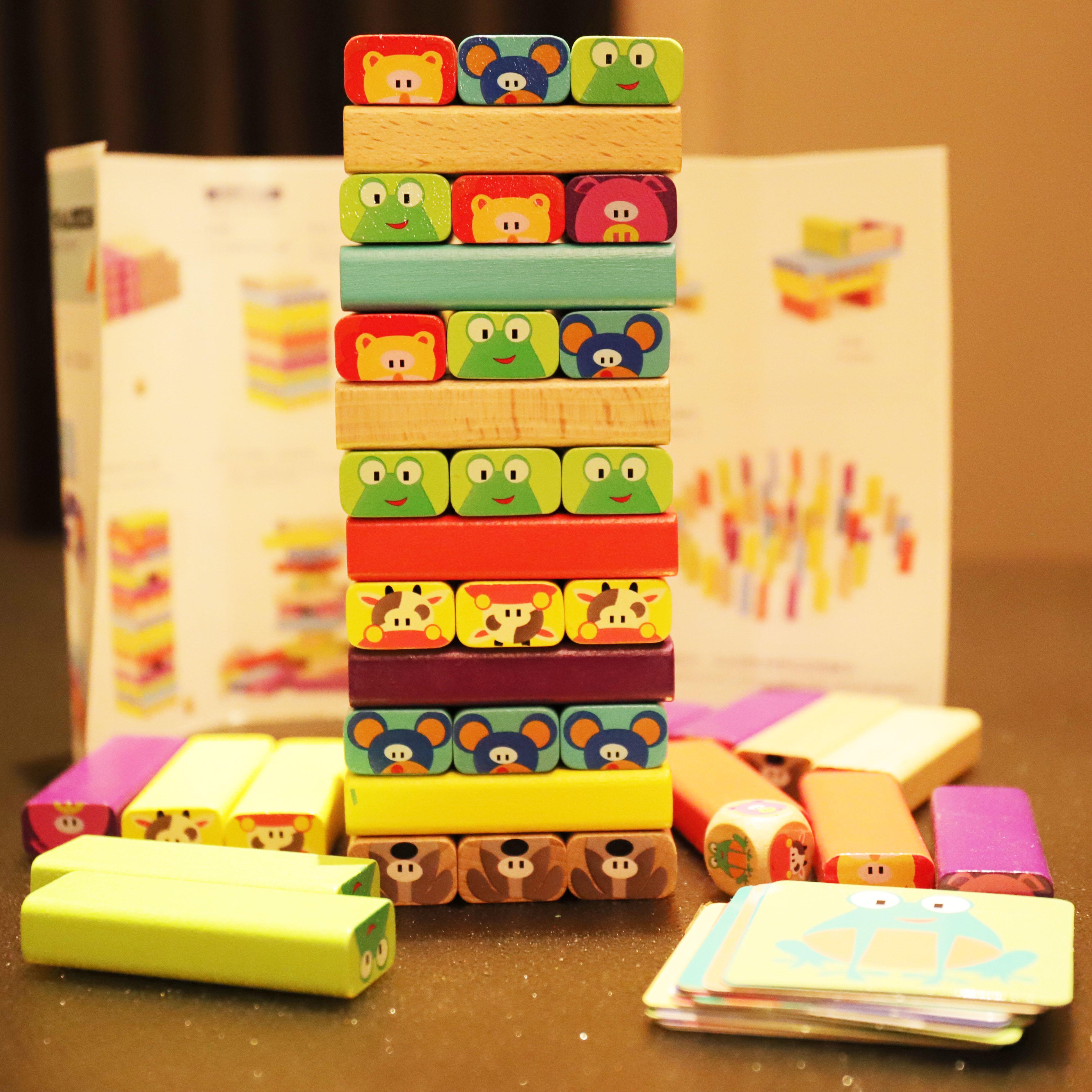 叠叠乐层层叠抽积木玩具 儿童益智叠叠高抽抽乐亲子互动桌面游戏