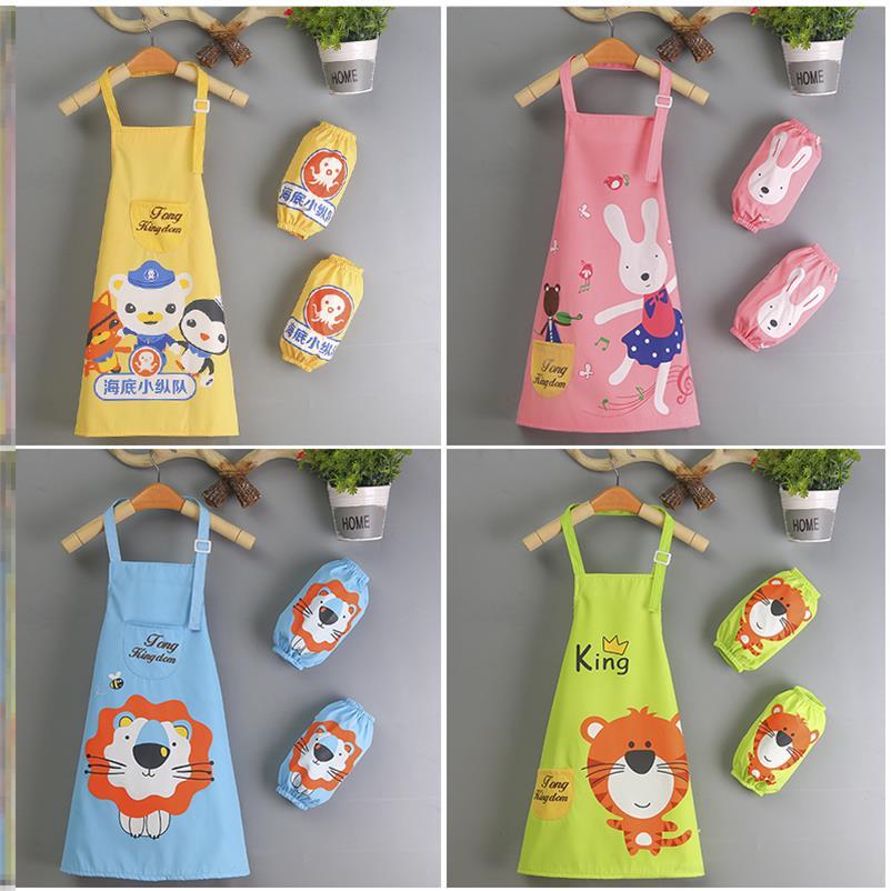 防脏创意油画家用儿童围裙手袖小孩绘画小学生幼儿园活动书法定制