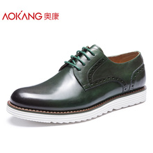 Okang Men's Shoes Lightweight Block Lace Men's Shoes Fashion Business Leisure Shoes