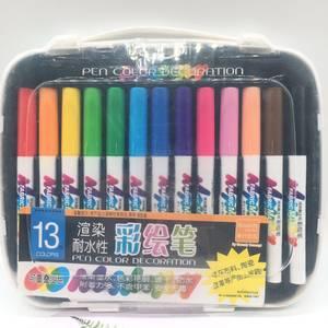 新代13色耐水性彩绘笔彩色记号笔陶瓷T恤彩绘学生纺织手绘马克笔