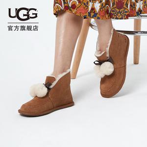 ugg秋冬短靴平底潮流凯琳毛茸女鞋