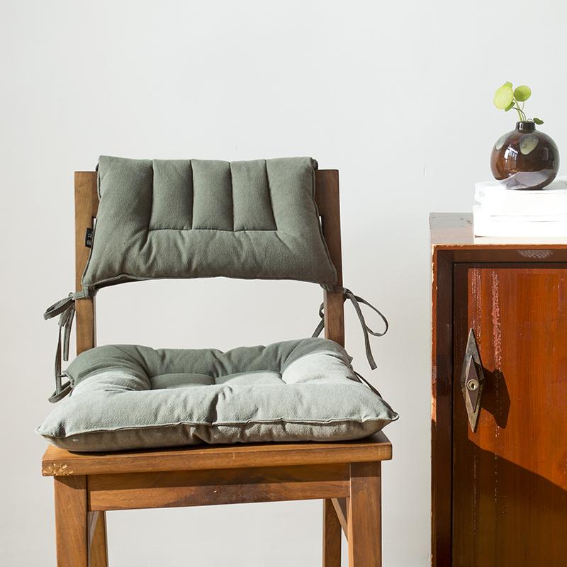 古色棉麻坐垫椅垫清新自然四季通用柔软舒适亚麻坐垫靠背垫