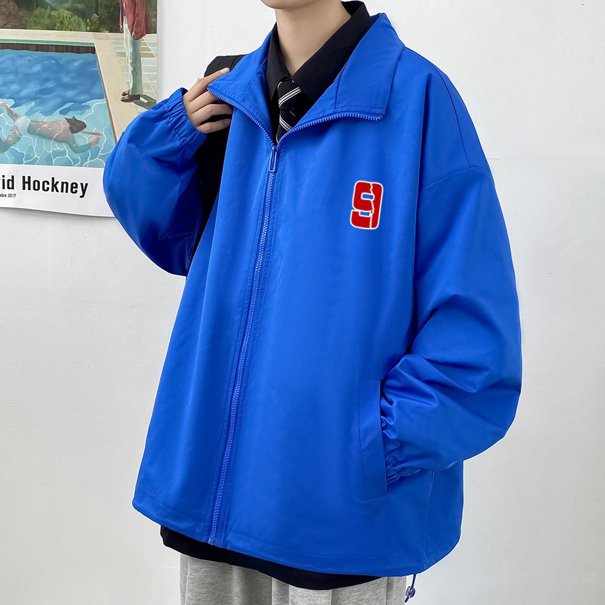 2021新款港风男式休闲简约百搭时尚印花夹克外套A110-JK806-P65