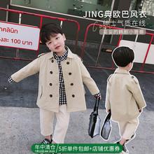 源源家2020新款童装儿童外套男童春装新款洋气宝宝风衣中长款洋气