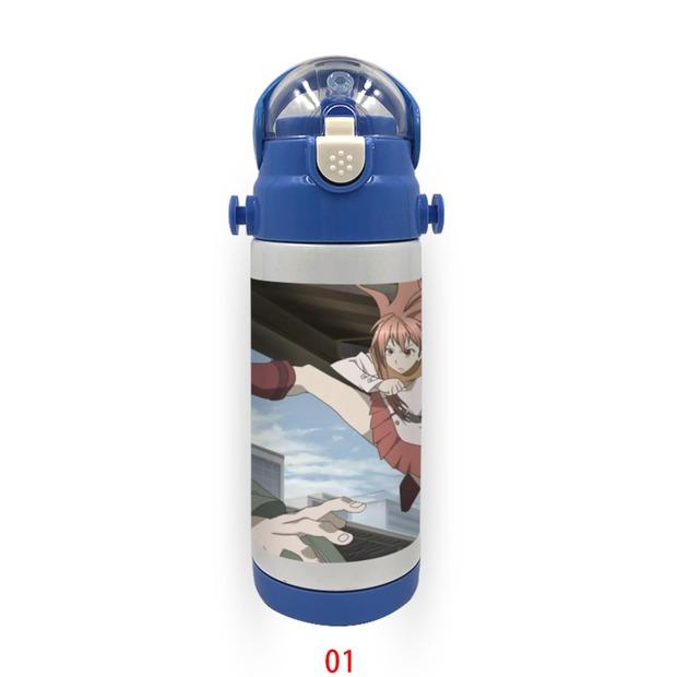 儿童保温杯绝园的暴风雨定制带吸管不锈钢水杯幼儿园宝宝 5001