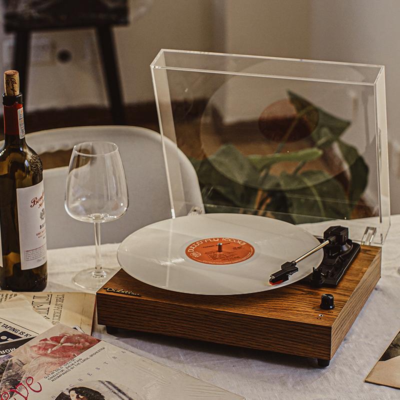 流淌时光Didatime简约留声机复古老式LP唱片机黑胶机唱盘机电唱机 Изображение 1