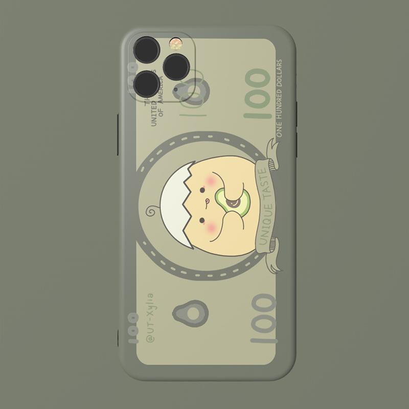 原创小鸡钞票iPhone11ProMax华为Mate30苹果78plus全包边SE手机壳