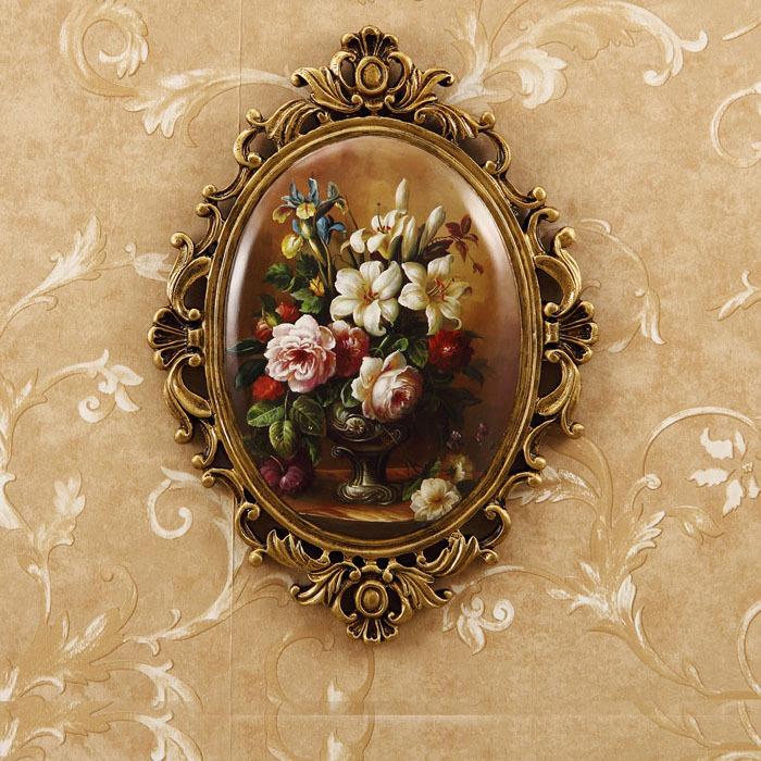 欧式壁挂壁饰美式乡村墙饰挂件树脂挂牌彩绘田园墙壁墙上装饰油画