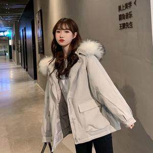 大量現貨 一直有貨 實拍2019秋冬新款羽絨棉服女韓版短款棉衣裝網
