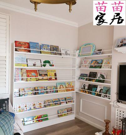 儿童实木落地书架墙上书架免打孔多层大容量创意书柜学生家用简易