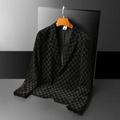 2021年新款男士修身西装 条绒灯芯绒西服 B810 P190 平铺图