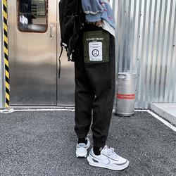 春秋季潮流休闲裤男裤束脚长裤潮牌男士裤子牛仔裤 H701-p35