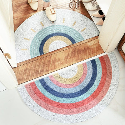 Semi-circular home floor mat, wear-resistant non-slip carpet