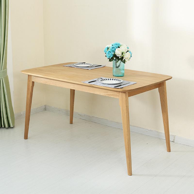 桌椅餐桌椅白橡木套装一桌四椅北欧风桌类实木住宅家具