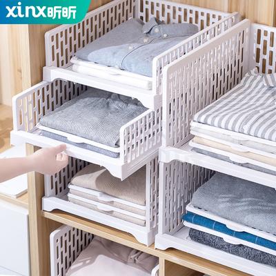 衣柜分层隔板收纳神器卧室衣橱多层置物架寝室宿舍柜子储物整理架