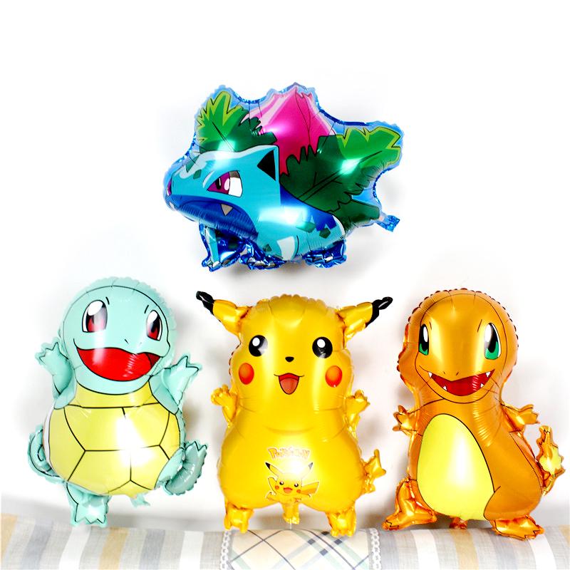 儿童卡通神奇宝贝铝膜气球皮卡丘Pokemon Go精灵宝可梦口袋氦气球