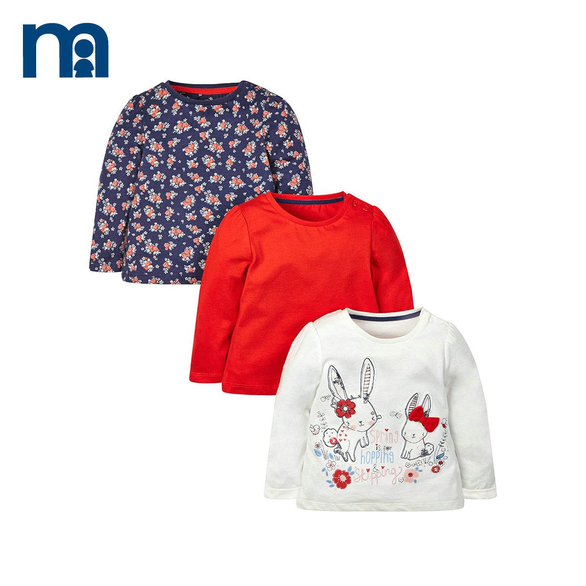 mothercare3件女童寶寶t恤