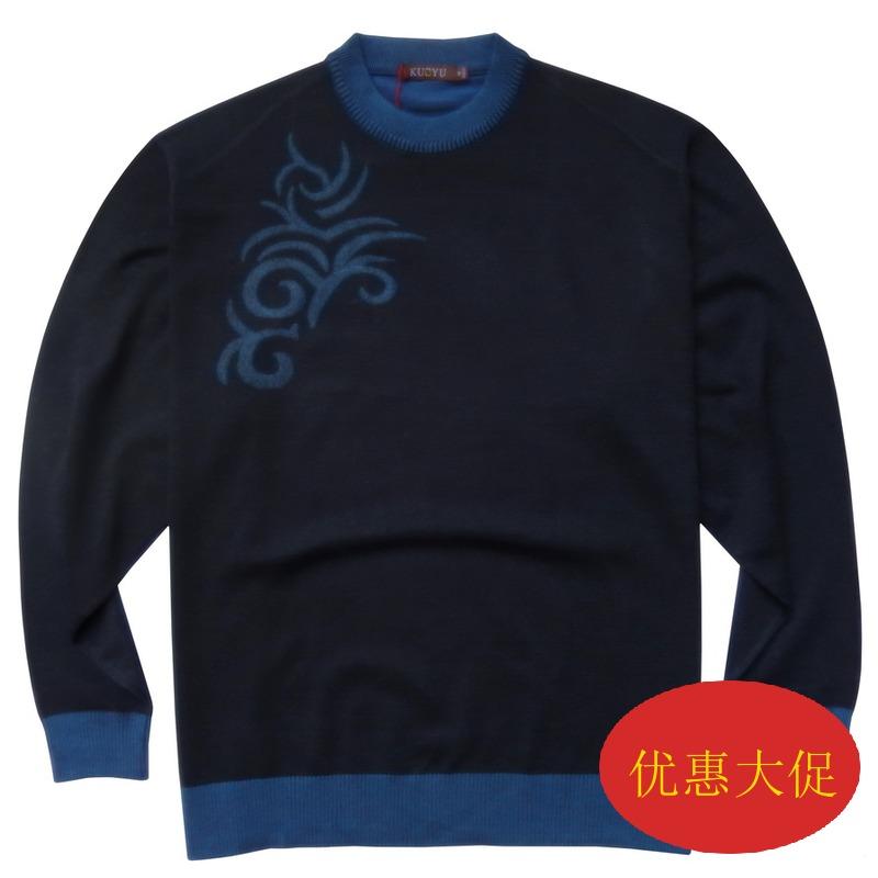 ヨーロッパのバージョンの秋冬の特大サイズの男性のセーターのデブに肥満を加えて、サイズのセーターの太っている人のセーターの150胸囲の8 XL