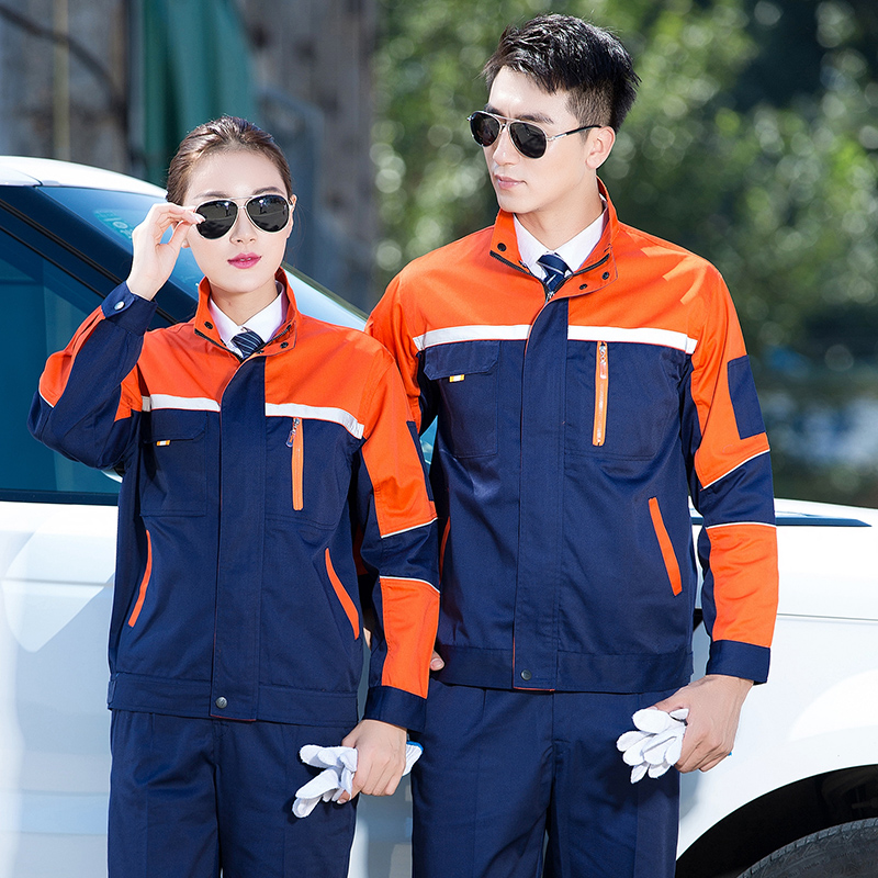 New autumn and winter engineering uniform car club repair car washing tooling 4S shop clothing mechanical mold clothing