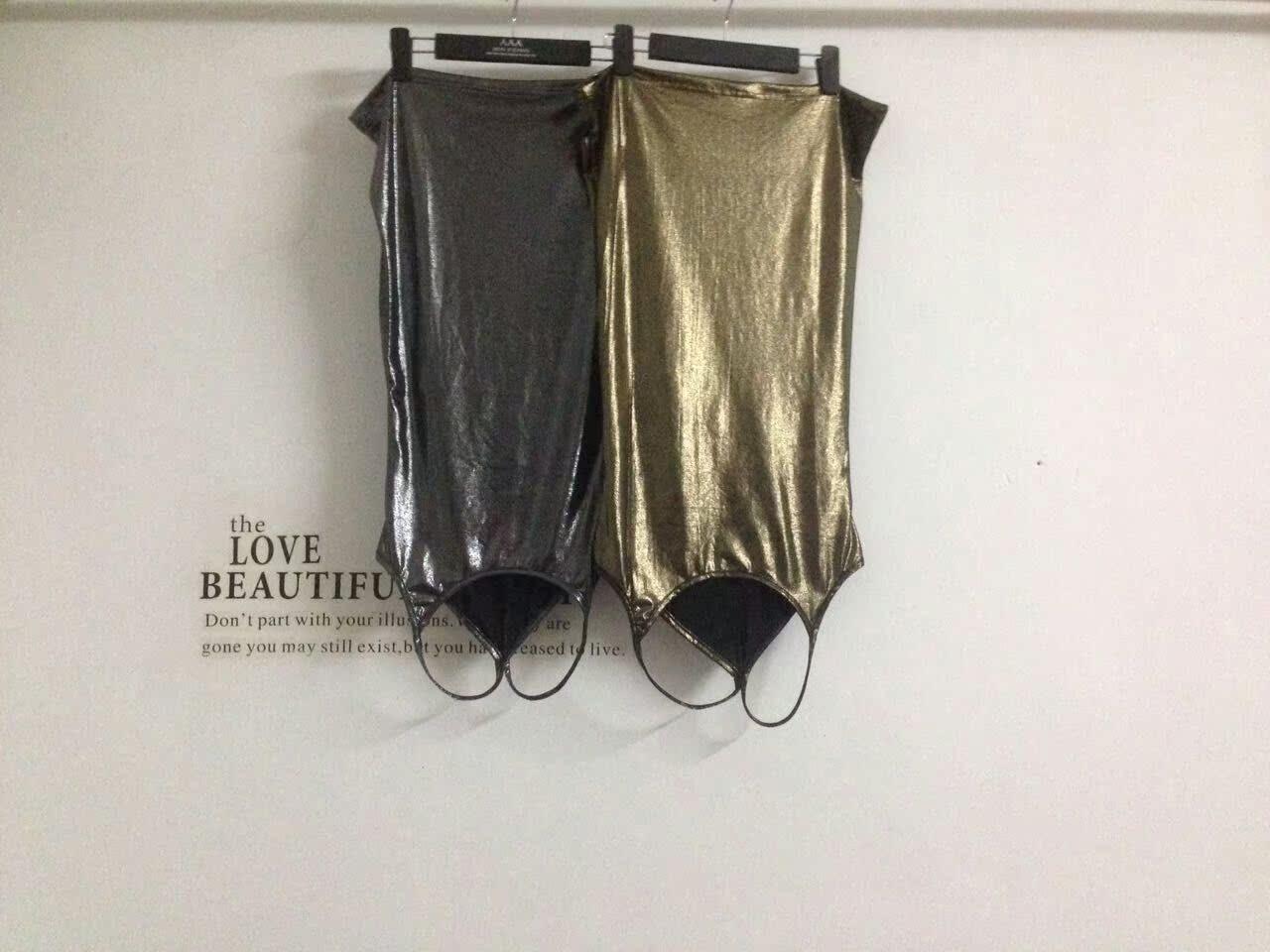 韩国新款女装夏季时尚潮流工字背百搭烫金修身显瘦打底吊带背心女