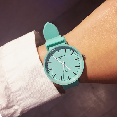 Net red Korean watch girl couple student boy simple fashion Harajuku Japanese jelly electronic silicone