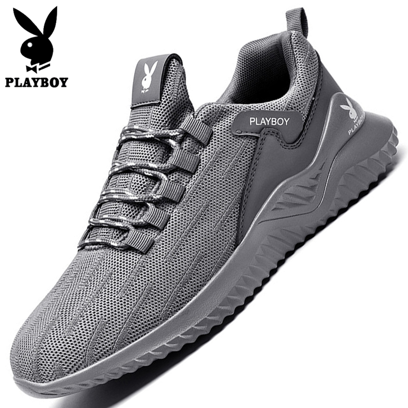 Playboy men's shoes spring and summer breathable tide shoes all kinds of men's casual trend sports running mesh shoes men