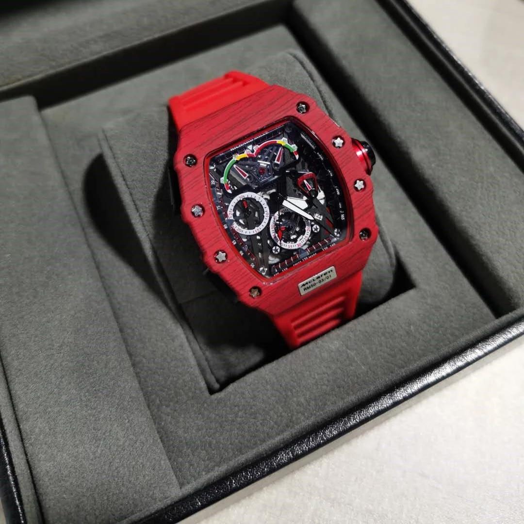 新款瑞士品牌手表男米勒新概念酒桶形理查德手表6针鬼头RM同款表