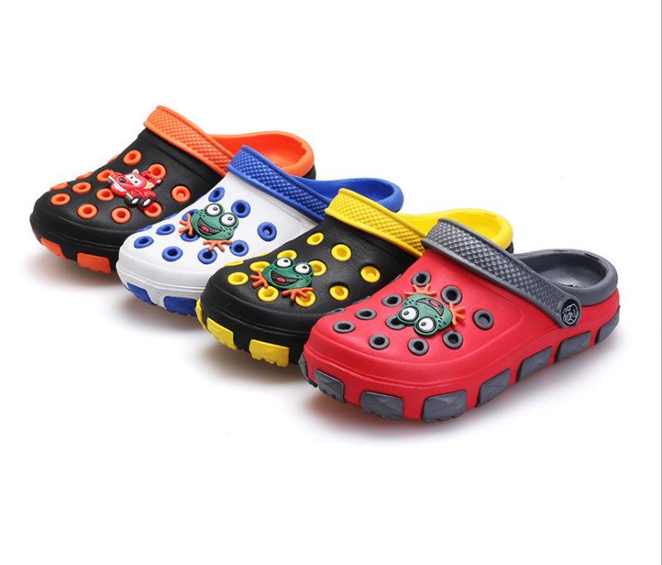 儿童凉拖鞋大中小童卡通洞洞鞋耐磨防滑宝宝大头沙滩鞋花园鞋男女