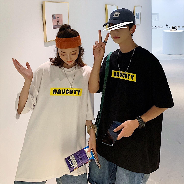 情侣装夏装2020新款韩版男女装学生宽松卡通短袖T恤C227-A18-P38