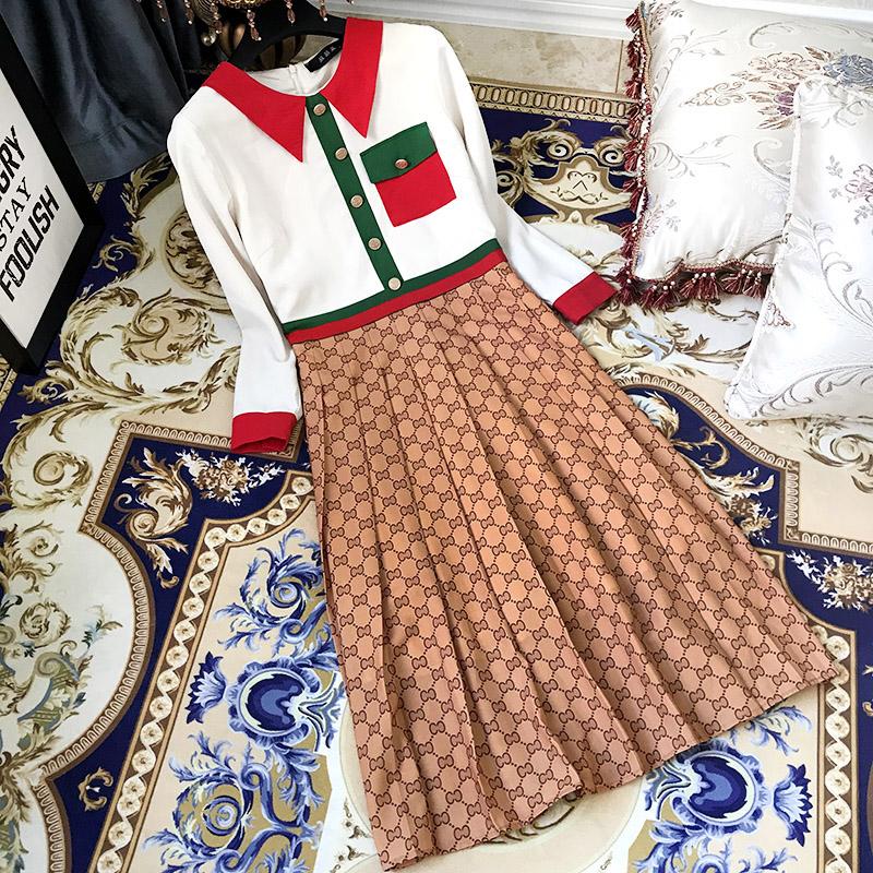 预@加肥加大码女装胖mm2018秋冬装新款高端经典修身中长款连衣裙