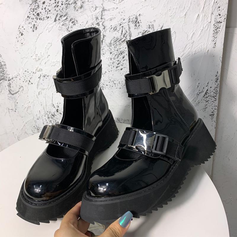 2020夏季新款复古镂空马丁靴女薄款透气厚底松糕鞋罗马凉靴潮ins