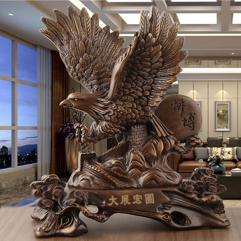 Grand plan Eagle Chinese style ornaments owl office desktop furnishings opening recruitment relocation craft gifts