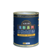 Waterborne metal paint anti-embroidery lacquer bronze Lacquer silver powder lacquer railing Iron door black paint Metal antirust paint