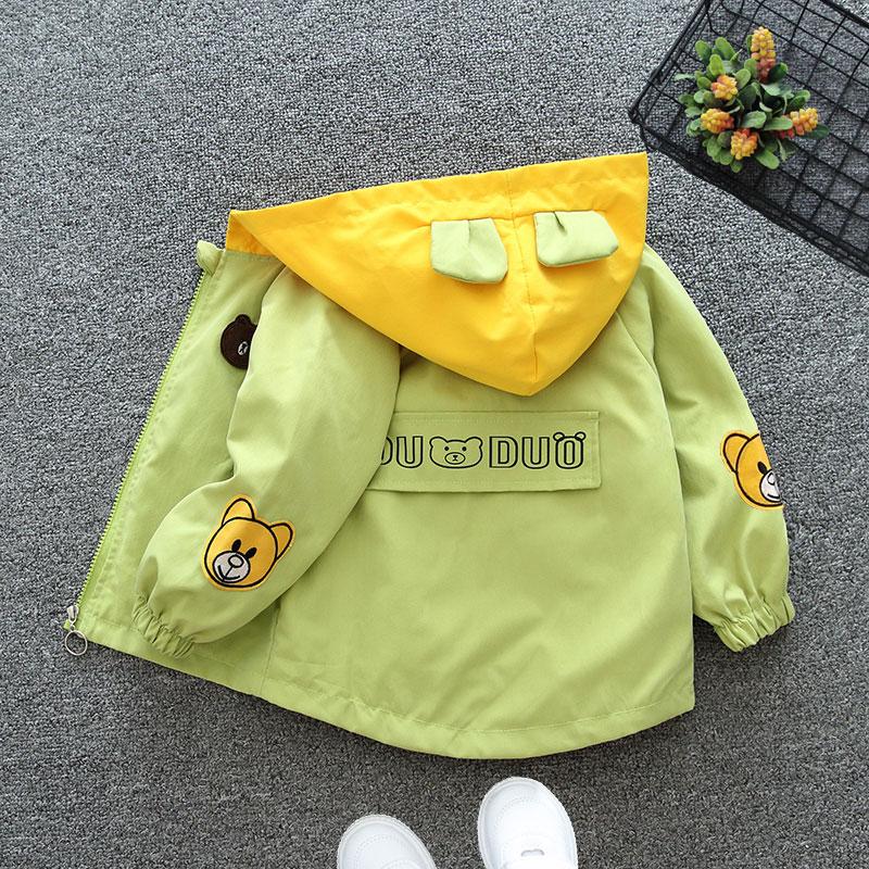 儿童外套女童防风衣洋气2021新款上衣男孩宝宝薄款春秋韩版冲锋衣