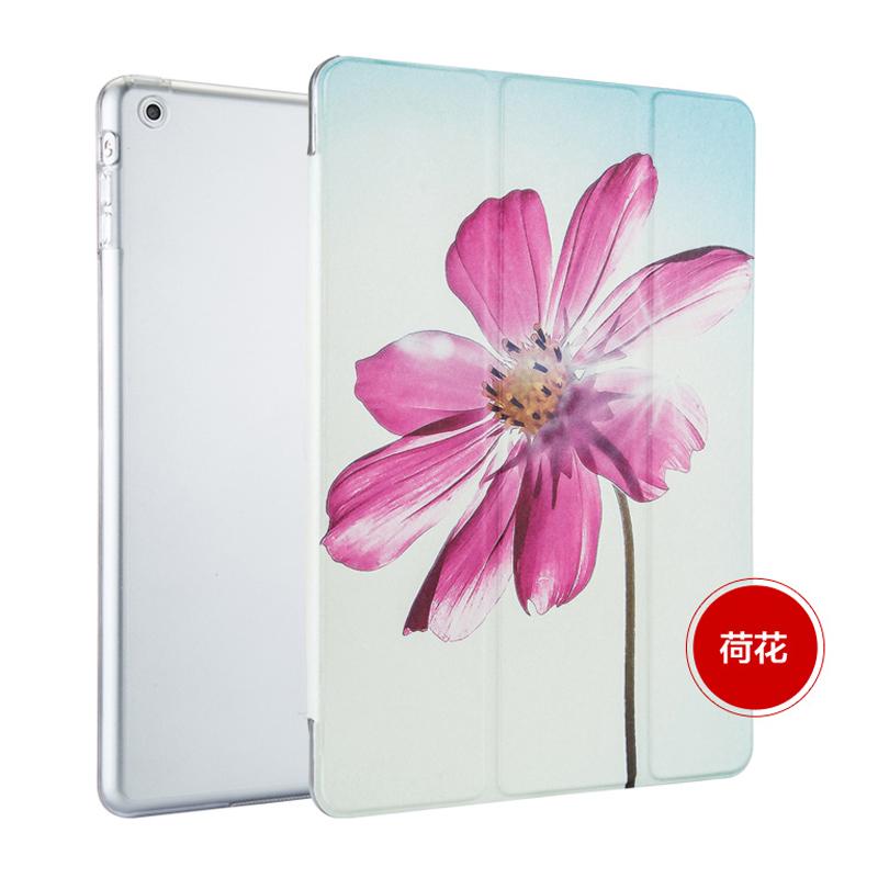 易博蘋果iPad air保護套 ipad air2外殼韓國卡通超薄彩繪皮套潮