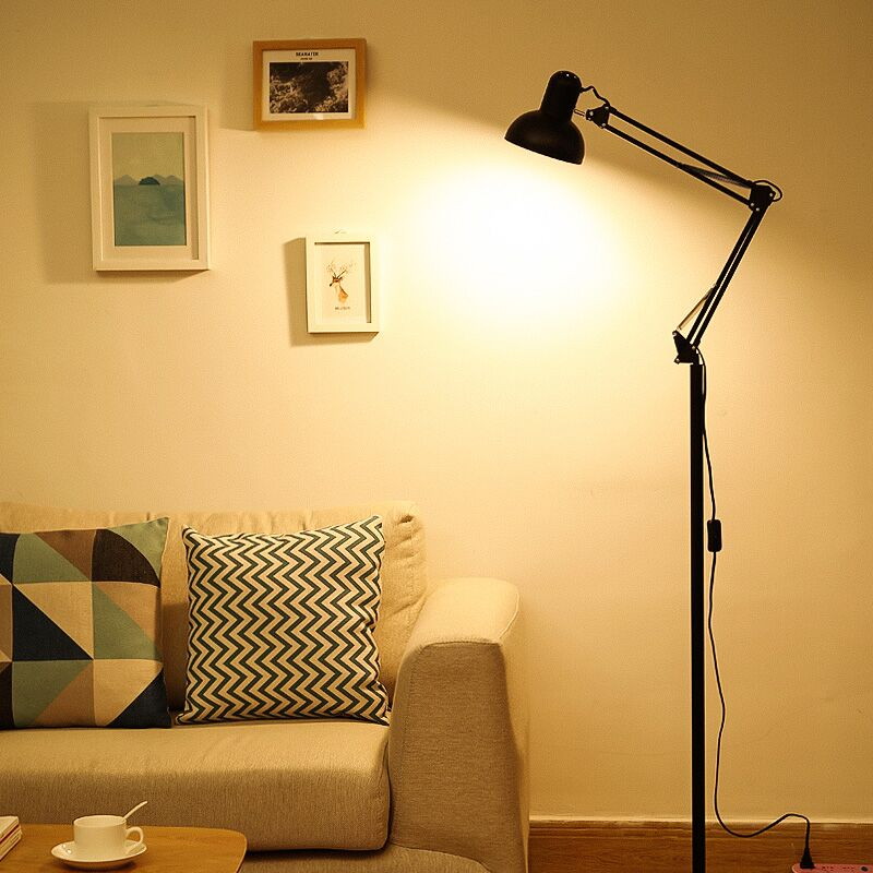 暖光护眼落地书房站立式高脚高台灯可调节立地式立灯纹绣美容专用