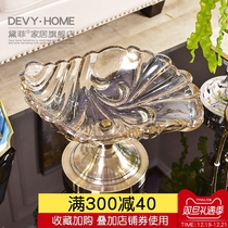 Devy European living room coffee table glass fruit plate Fruit Basket candy plate Modern simple table decorations decoration