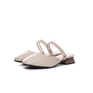 柒步森林2020夏季新款平底淑女氣質文藝包方頭低跟涼半拖鞋仙女風
