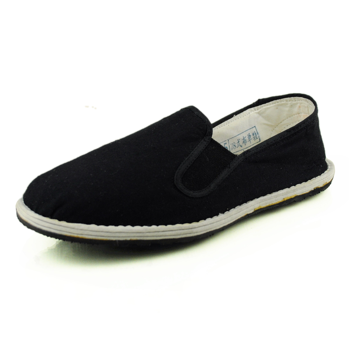 Zhengzhou 3519 general factory produces standard pure cotton cloth shoes, mens elastic, high wear-resistant and antiskid casual single shoes, womens shoes