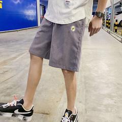 20/夏  小雏菊 桃皮绒嘻哈五分薄款束脚抽绳运动裤A335A-K26-P23