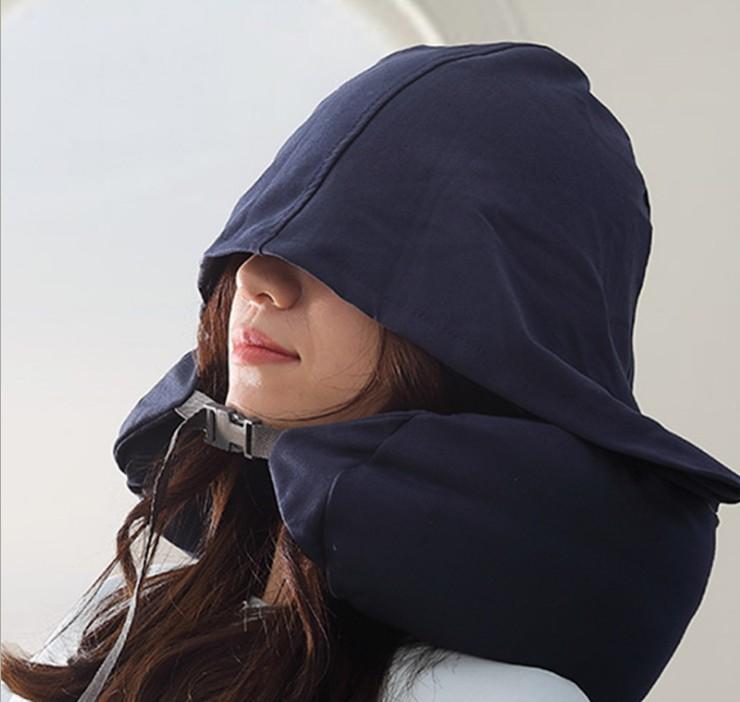 日式无印 U型枕男护颈枕颈椎枕女午休连帽枕头旅行飞机枕头午睡枕11-28新券