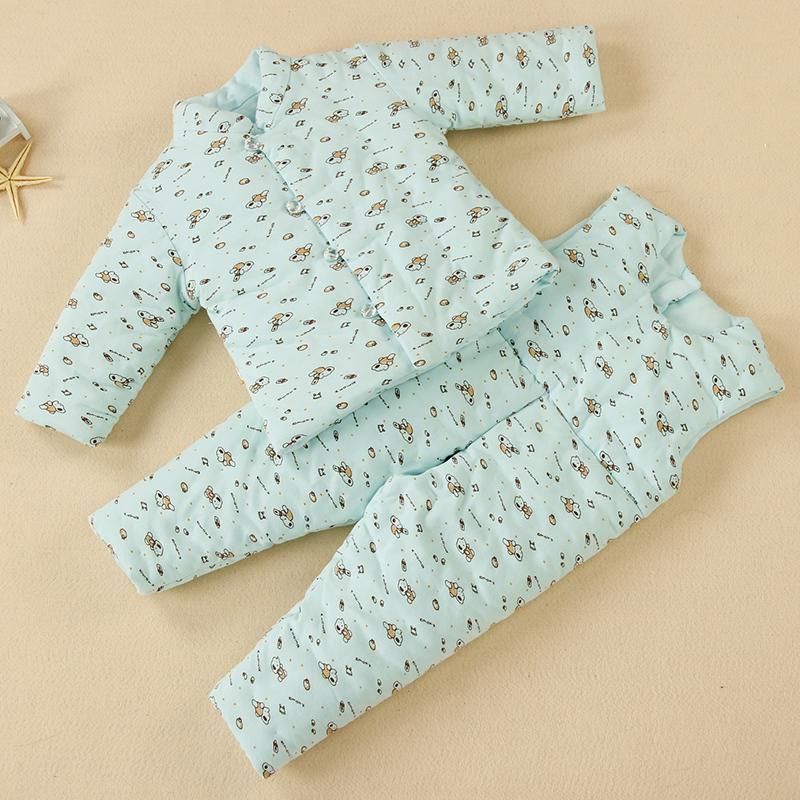 男女寶寶 棉衣 兒童純棉花嬰兒棉襖棉褲套裝 小孩幼兒加厚冬裝