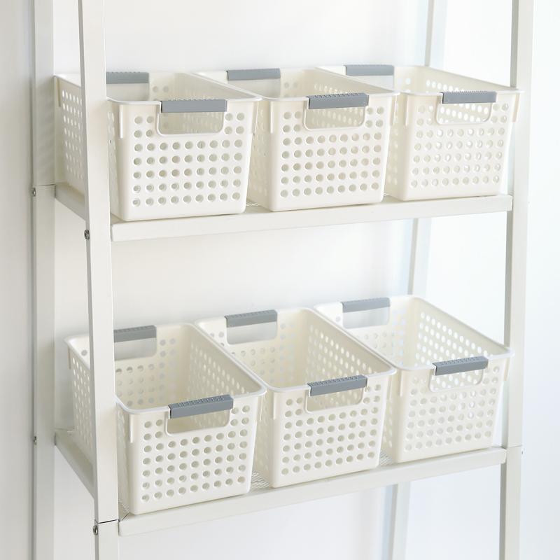 聚可爱 创意家居塑料厨房杂物水果收纳篮桌面零食收纳筐冰箱收纳