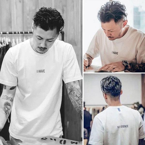 余文乐t恤男潮牌短袖T夏季圆领白色纯棉宽松男装半袖体恤潮流上衣图片